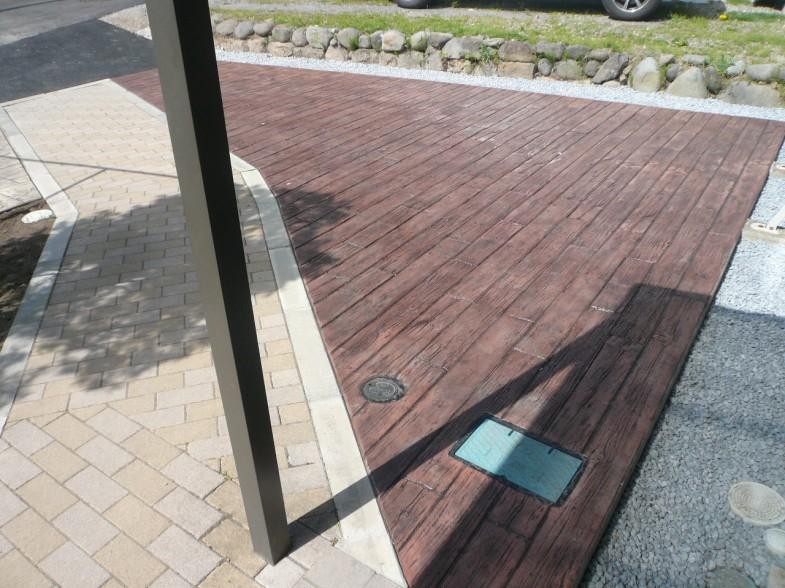 枕木スタンプコンクリート