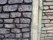 竹のスタンプウォール