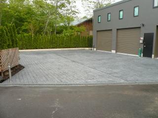 施工されたスタンプコンクリート
