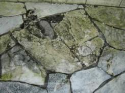 凍結損傷した石張り