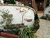 庭周りのスタンプウォール2