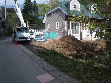 駐車スペース工事施工前