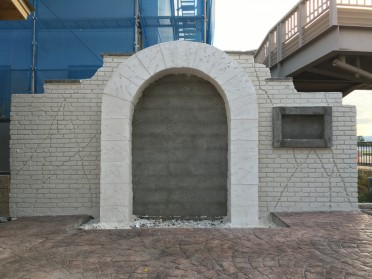 モルタル造形 施工前
