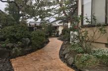 和風庭園のスタンプコンクリート1