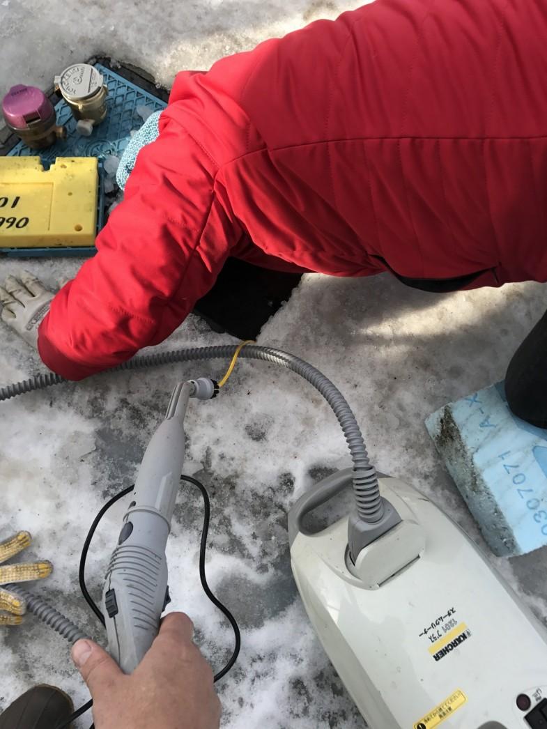 水道 解氷作業