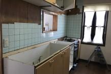既設キッチン解体