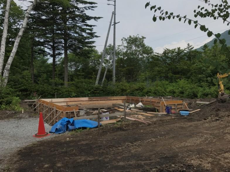 軽井沢町 フィッシャーマンズガレージ 基礎工事