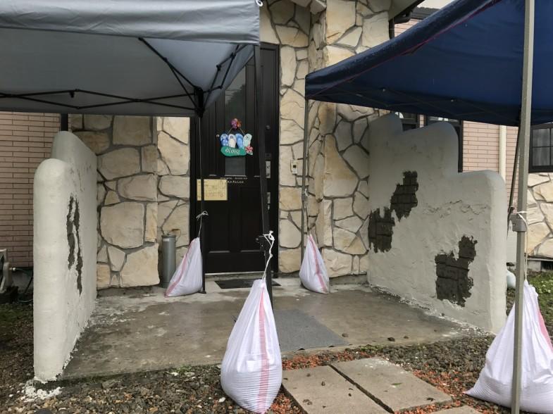 モルタル造形のウォール 軽井沢町