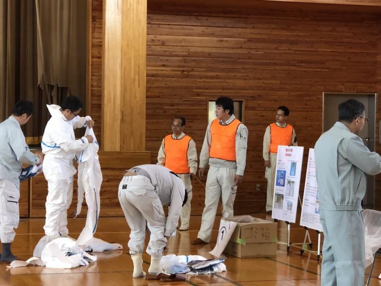 鳥インフルエンザ防疫訓練2