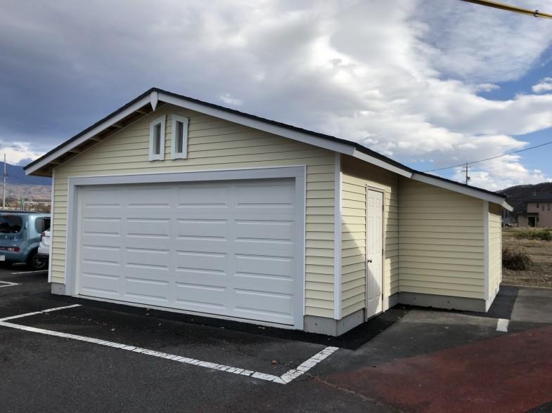 上田市 木製ガレージ