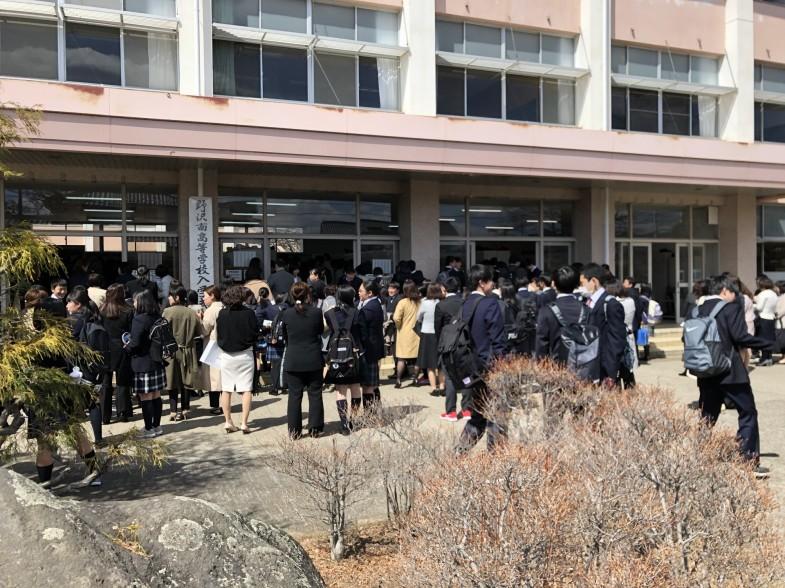 野沢南高等学校 入学式1