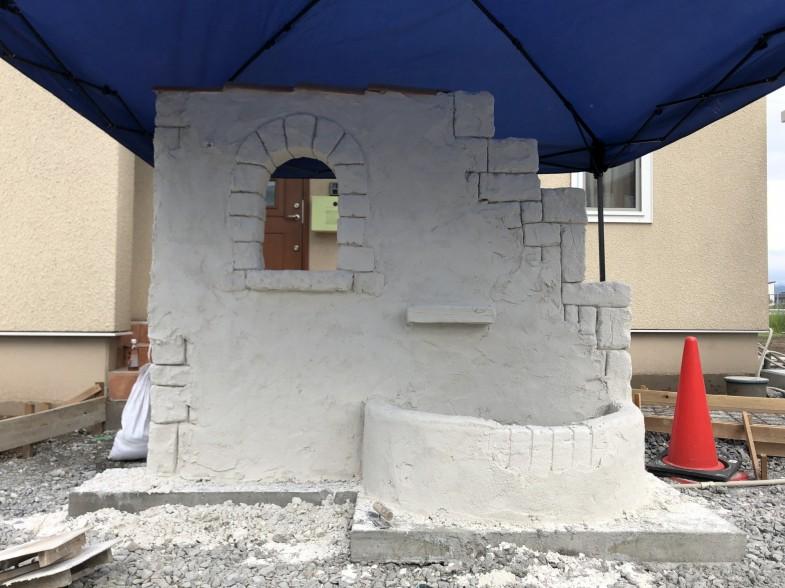 モルタル造形門柱
