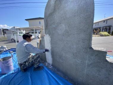 モルタル造形 石灰岩