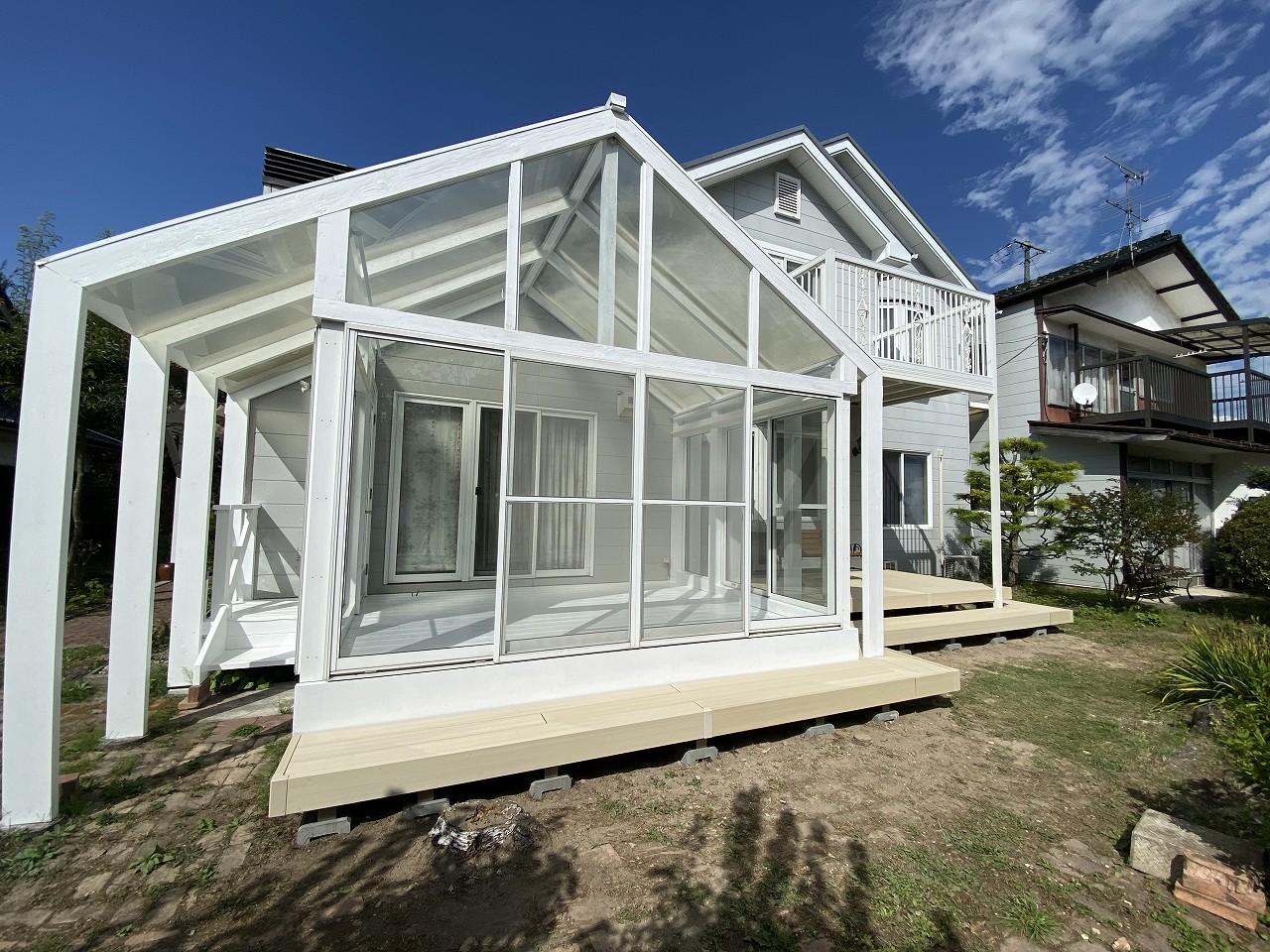 木製ガーデンルーム(サンルーム) 完成