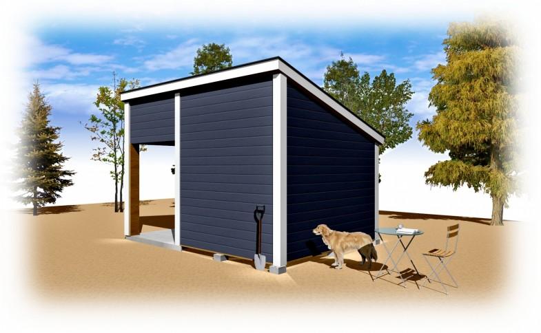 メイプルキャビン 14×10 片屋根