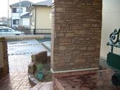 門柱のスタンプウォール