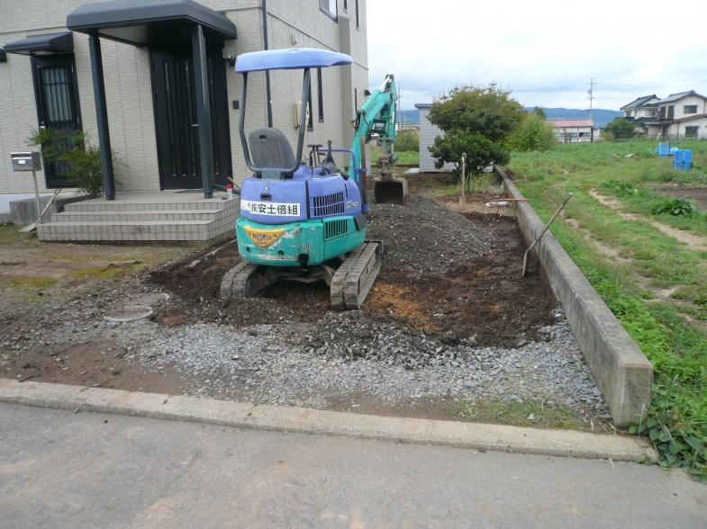 床掘り・砕石