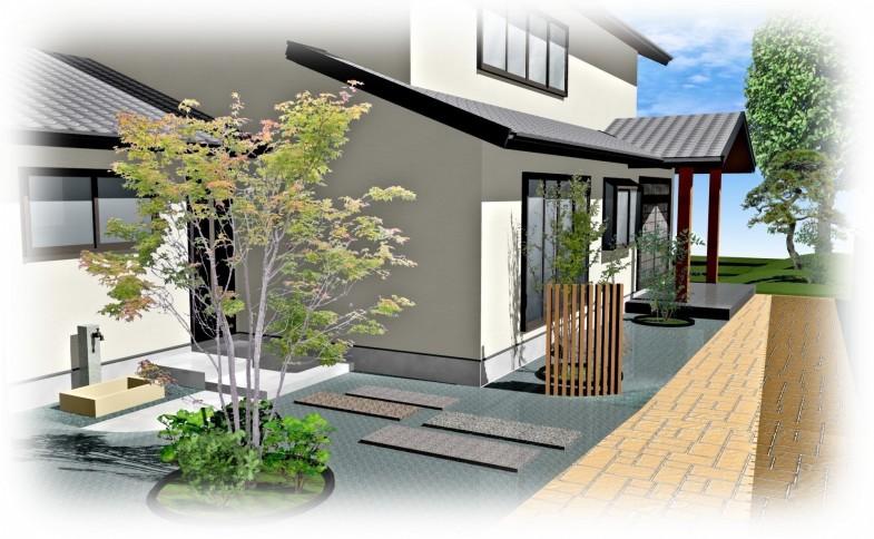 和風・庭園・スタコン・完成イメージ図 01