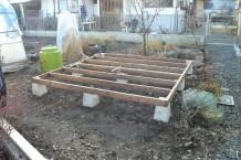 木製物置 8×8 土台