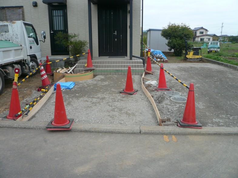 アプローチ型枠・スタンプコンクリート