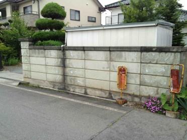 古くなったブロック塀をデザイナーズウォールへ!施工前