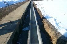 川窪地区排水路改修工事 進行中