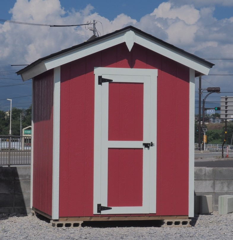 木製物置 ピンク