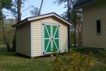 軽井沢・N様邸 木製物置 9×9 母屋外壁