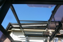 既存テラス アクリル板 屋根