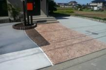 土間コンクリート・スタンプコンクリート・砕石(転圧)アスファルト乳剤仕様