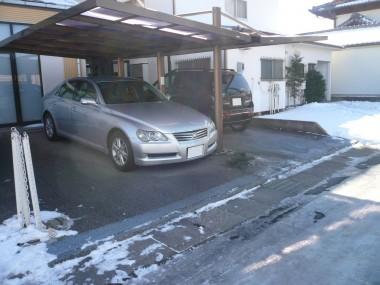 佐久市・K様邸 既存駐車場・現状