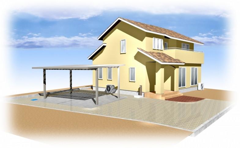 佐久市・M様邸 完成イメージ CAD