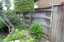 人口竹 施工前 既存板塀フェンス