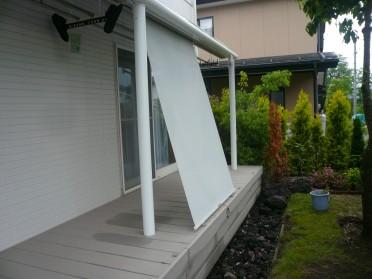 御代田町・F様邸 既存テラス日除け取付