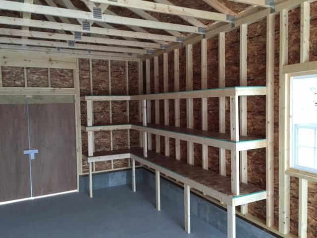 木製物置 カスタマイズ 棚
