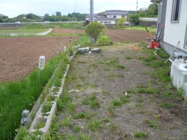 佐久市・T様邸 既存擁壁ブロック積み 施工前