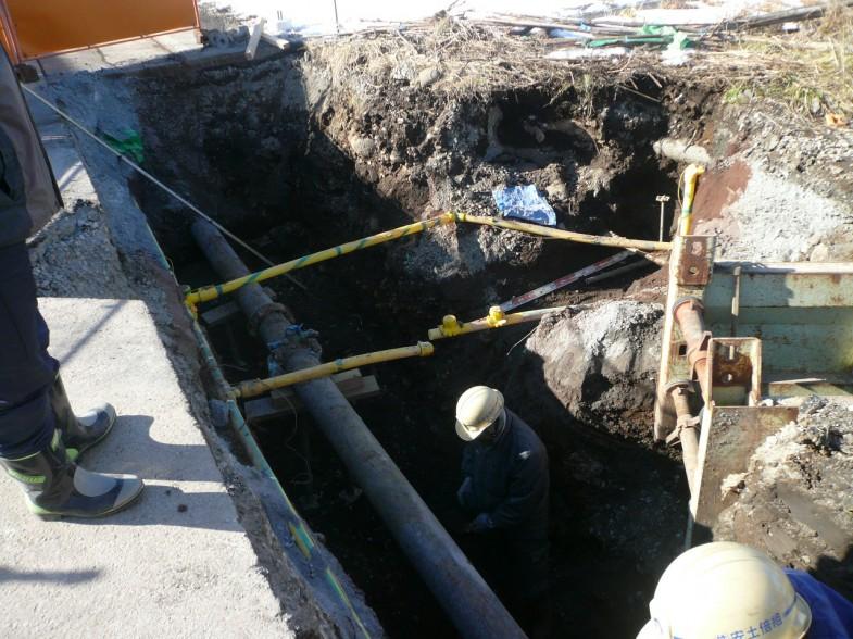 佐久市桜井地区 排水管移設工事