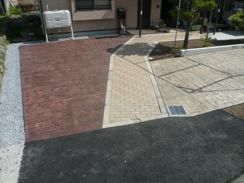 既存インターロッキング・スタンプコンクリート