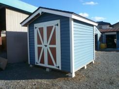 木製物置 8×8 外壁 ダークブルー仕様 完成
