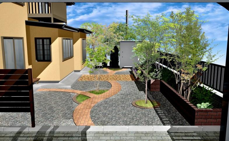 ガーデンリフォーム・植栽・アプローチ・イメージ図