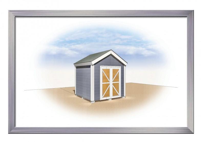 木製物置 8×8 カラーバリエーション イメージCAD