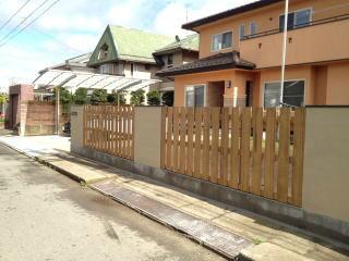 ジョリパット仕上げで施工した塀