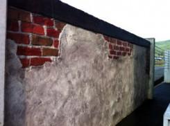 アンティーク調の塀