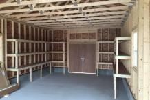 木製ガレージ・カスタマイズ棚